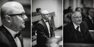 Hochzeit, Hochzeitsfotografie, Astrid Ebert Fotografie, Hochzeitfotograf Aachen, Salvatorkirche Aachen, Brautpaar, kirchliche Trauung, das Warten auf de Braut, Bräutigam, Vater