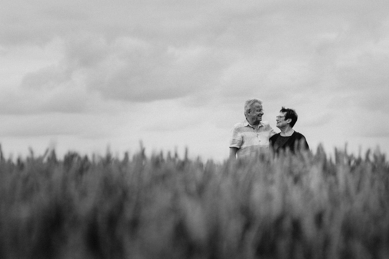 verliebtes älteres Paar