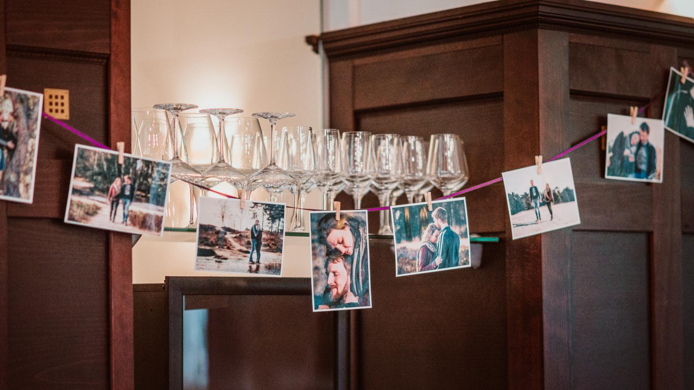 Dekoration mit Bilder aus Engagement Session | Hochzeitsfotograf Aachen