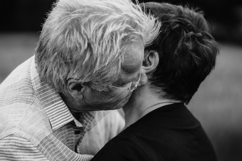verliebtes und glückliches älteres Paar