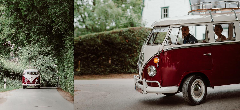 Hochzeit mit VW Bulli