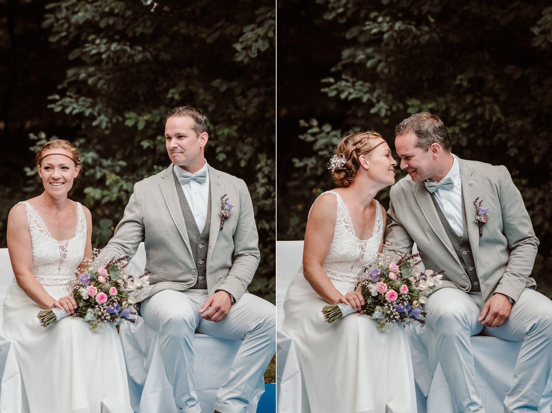 freie Hochzeit im Wald