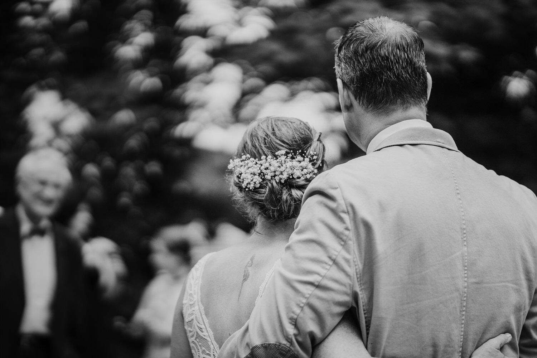 Hochzeitspaar nach der Traaung