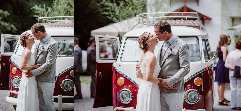 Hochzeitsfotos mit VW Bulli