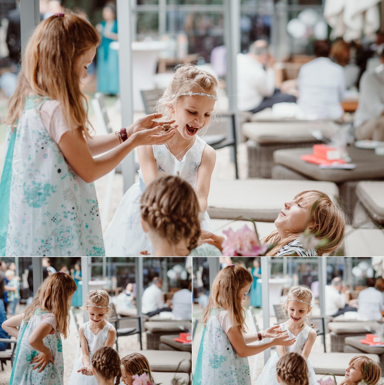 Kinderfotos während Hochzeit