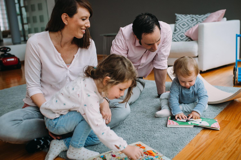 Familienfotos zu Hause