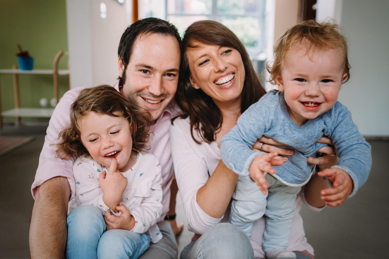 ungestellte Familienfotografie