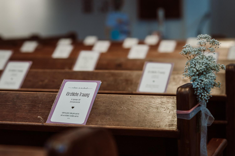 Details Kirche Dekoration | Hochzeitsfotografie Aachen