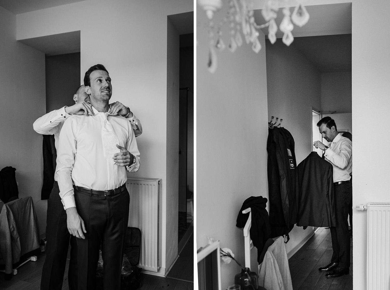 Getting Ready Bräutigam | Hochzeitsfotografie Aachen