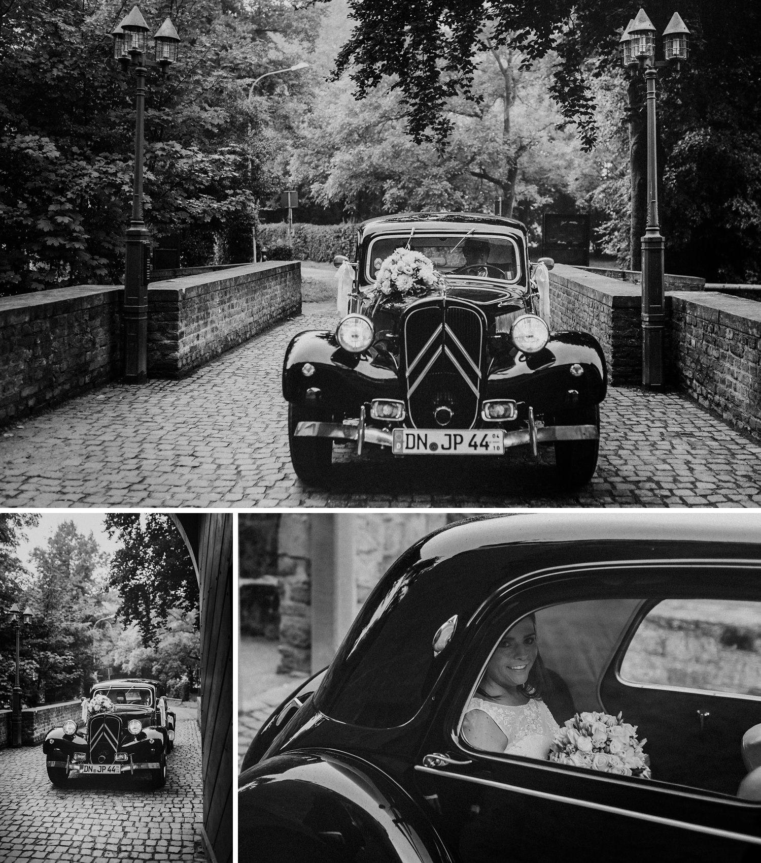 Oldtimer Hochzeitsauto Citroen | Hochzeitsfotografie Aachen