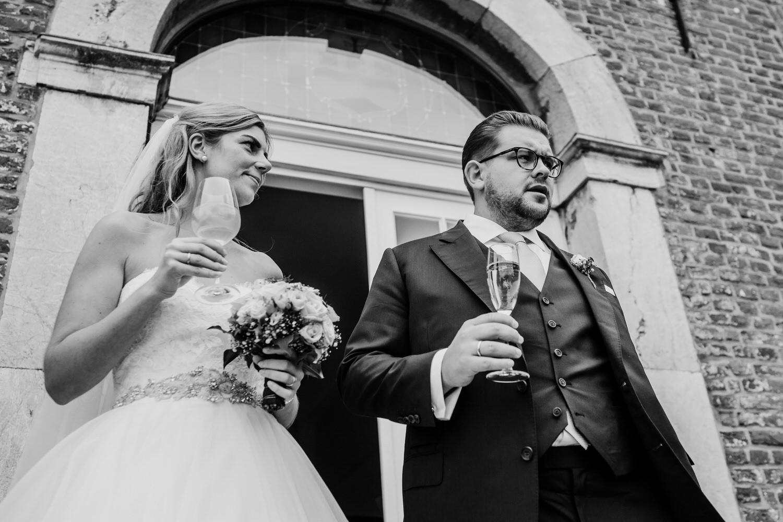 Sektempfang Hochzeitpaar