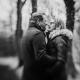Schwarzweiß Paarbild mit Lensbaby fotografiert
