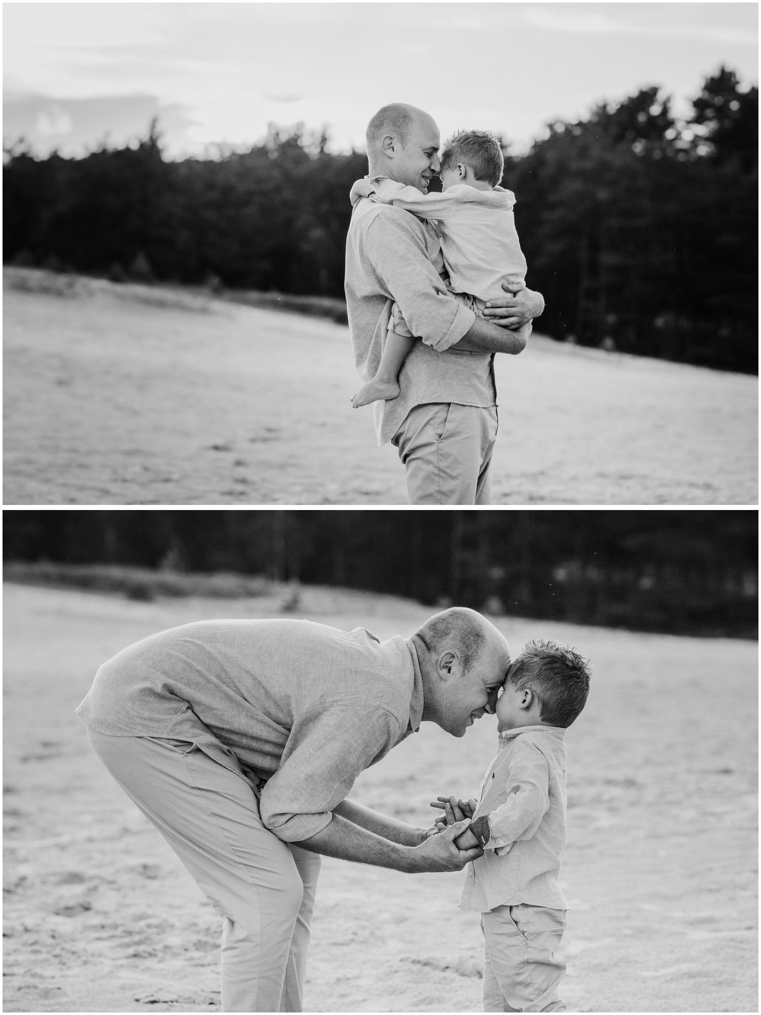 gefühlvolles Foto von Papa mit Sohn